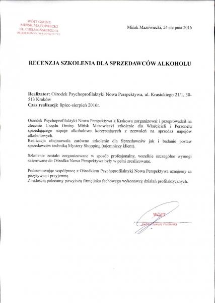 Sprzedawcy alkoholu - Mińsk Mazowiecki!